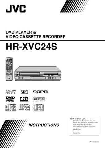 JVC HR-XVC24S Service Manual by download Mauritron #281474