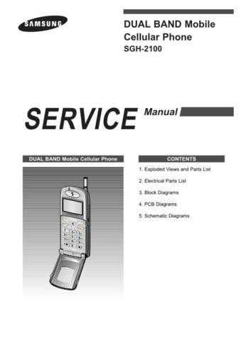 Samsung SGH-2100 Mobile Phone Service Manual by download Mauritron #306267