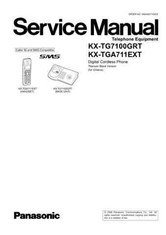 Panasonic TG7100GR_FINAL_71 Manual by download Mauritron #302279