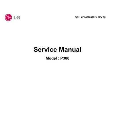 LG P300_SVC_ENG_071210 Manual by download Mauritron #305832