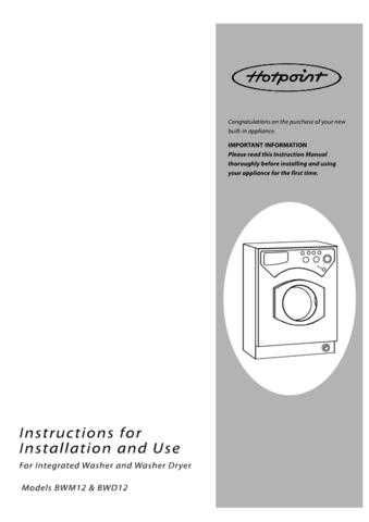 Hotpoint BWD12 Washer Operating Guide by download Mauritron #307513
