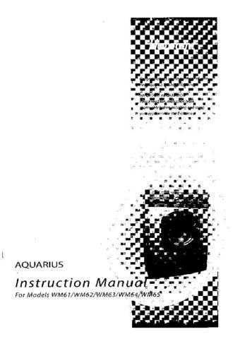 Hotpoint WM61 Washing Machine Operating Guide by download Mauritron #306057