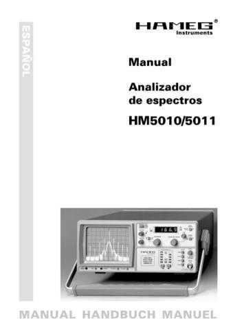 Hameg HM5011 Operating Guide in Spanish by download Mauritron #307188