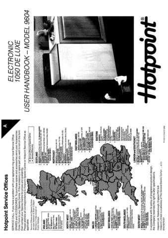 Hotpoint 9604 Washer Operating Guide by download Mauritron #307447