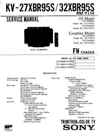 Sony KV-M1410 TV Service Manual by download Mauritron #322953