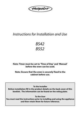 Hotpoint HBBS42(2) Operating Guide by download Mauritron #312079