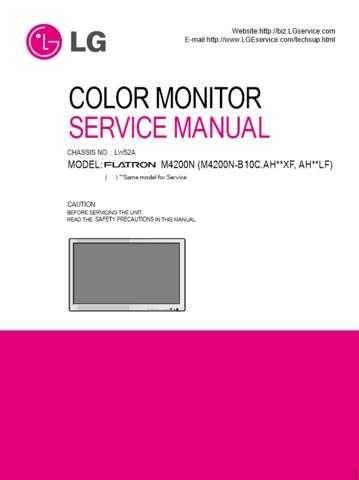 LG (M4200N-B10C_E) Manual by download Mauritron #303515