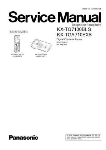 Panasonic TG7100BL Manual by download Mauritron #302275