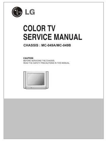 LG SERVICE MANUAL MC-049A Manual by download Mauritron #305888