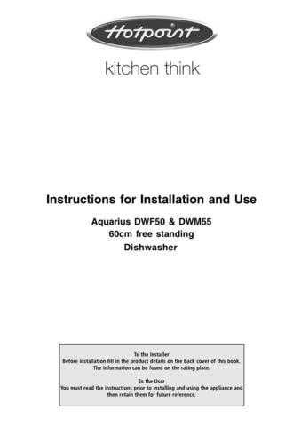 Hotpoint DWF-61 Dishwasher Operating Guide by download Mauritron #313575
