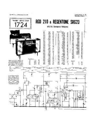 RGD. SRG23. Vintage Wireless. Service Data. by download Mauritron #306223