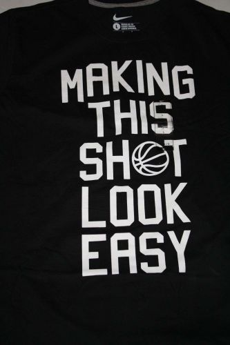 "New Men's Nike Graphic T-shirt ""MAKING THIS SHOT LOOK EASY"" Size Large"