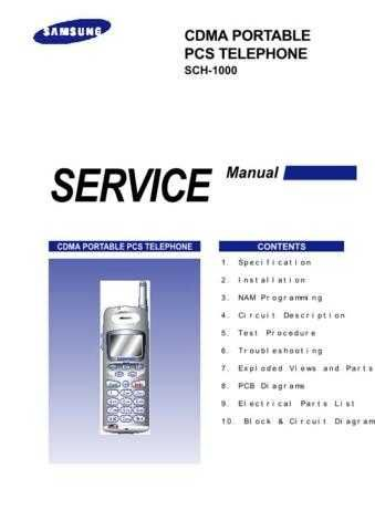 Samsung SCH-1000 Mobile Phone Service Manual by download Mauritron #306238