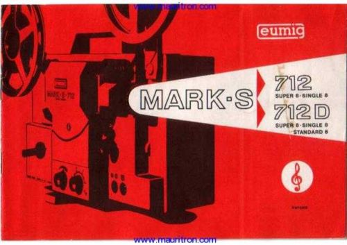Eumig S712D Projector Operating Guide in French_ by download Mauritron #307086
