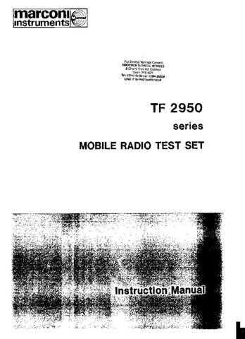 Marconi TF2950 Series Combined by download Mauritron #329603