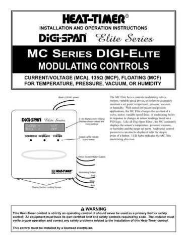 Honeywell heattimer mcfinstall Operating Guide by download Mauritron #316818