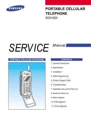 Samsung SCH-620 Mobile Phone Service Manual by download Mauritron #306251