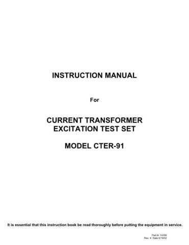 AVO CTER-83 Operating Guide by download Mauritron #309017