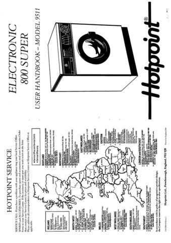 Hotpoint 9511 Laundry Operating Guide by download Mauritron #313402