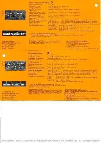 Volkswagen EberLCDTimerOperationCard by download #333729