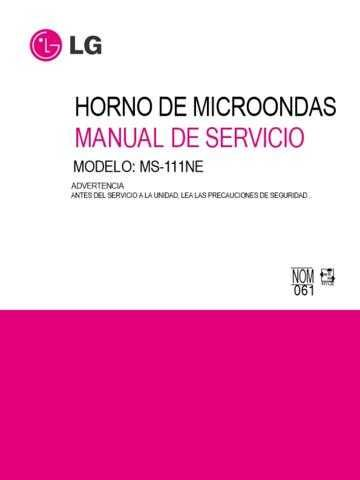 LG 3828W5S1983 Manual by download Mauritron #304266