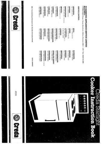 Creda HB49202 Operating Guide by download Mauritron #312935