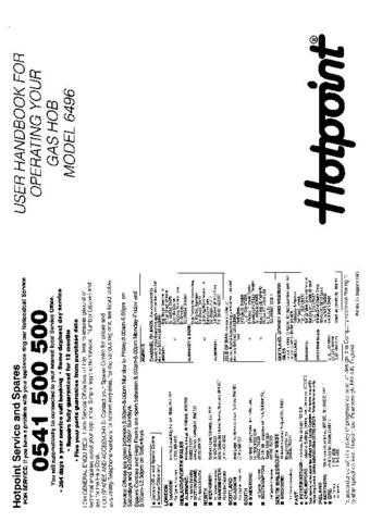 Hotpoint HB6496 Operating Guide by download Mauritron #312044
