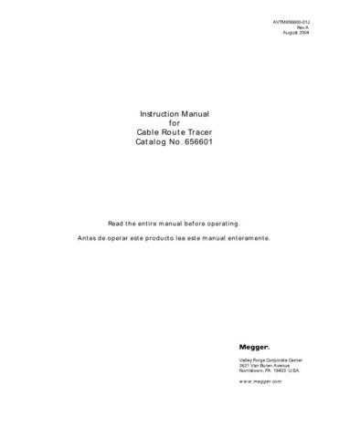 AVO AVTM-72-390Ja Operating Guide by download Mauritron #308905