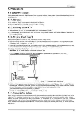 20080710190428750 01 PRECAUTIONS Manual by download Mauritron #303091