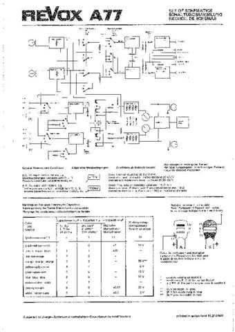Revox A77 Circuit Diagram Schematics 69-09 by download Mauritron #312200
