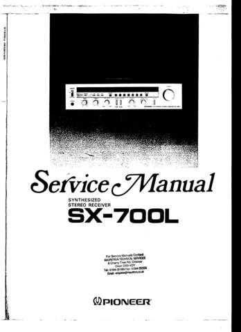 Panasonic SX-700L Manual by download Mauritron #301762