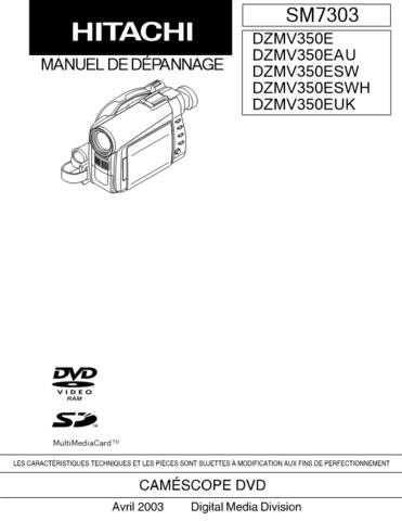 Hitachi DZMV380ESW_EN Service Manual by download Mauritron #290072