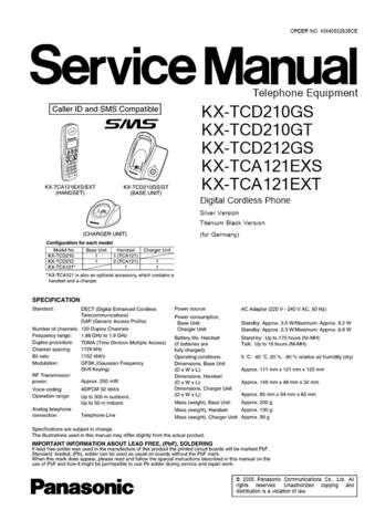 Panasonic TCD210G_FINAL0307(1) Manual by download Mauritron #301974