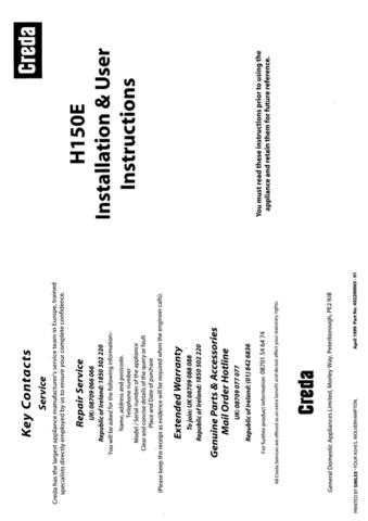 Creda H150 Operating Guide by download Mauritron #312855