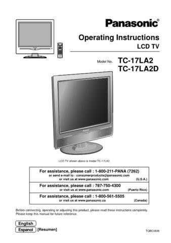 Panasonic TC_15LV1_FR Manual by download Mauritron #301827