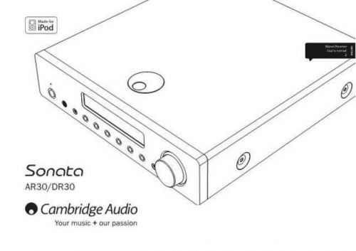 Cambridge Audio AP235142ACASonataAR30DR30UserManual01English(2) by download Mauritron