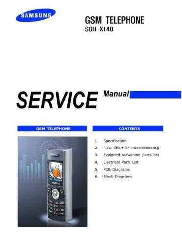 Samsung SGH-X140 Mobile Phone Service Manual by download Mauritron #306455