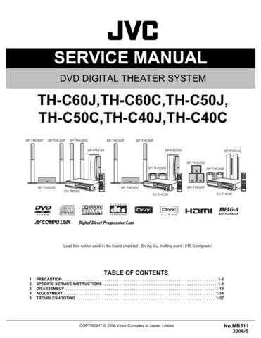 JVC TH-C6-8 Service Manual by download Mauritron #276853