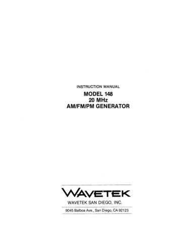 Pages from wavetek Manual by download Mauritron #312560