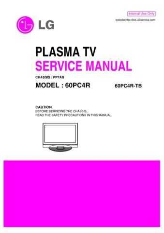 LG 60PC4R Manual by download Mauritron #304350