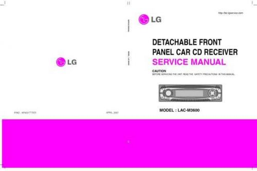LG LAC-M1600R Manual by download Mauritron #304759