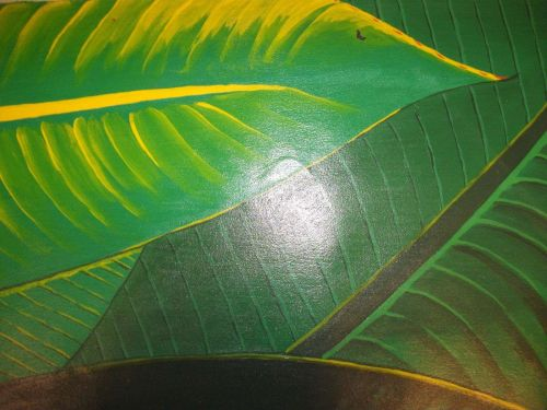 NZ native Fern Painting on canvas ready to hang. finished off by hand. original