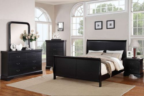 Bedroom Beds Dresser Queen King Bedroom set 4 pc Bed set Louis Philippe Style