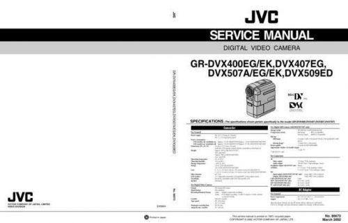 JVC GR-DVX400EG Service Manual by download Mauritron #274264