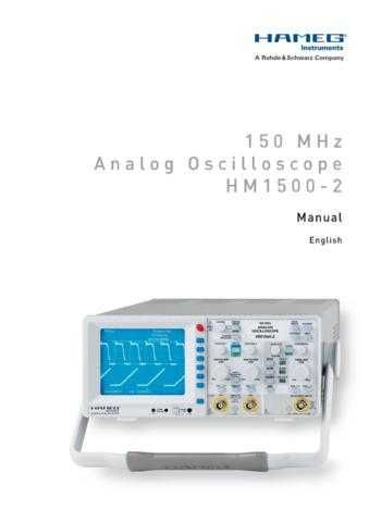 Hameg HM1500 2 E Operating Guide by download Mauritron #307142