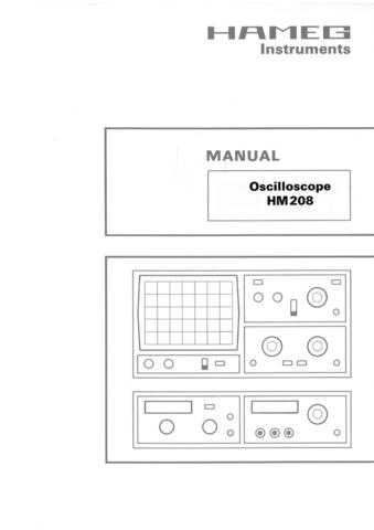 Hameg HM208 Operating Guide by download Mauritron #307167
