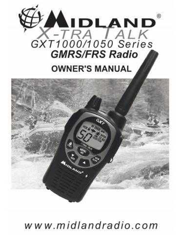 Midland GXT1000 Owner's Manual 2 Way Radio Operating Guide by download Mauritron #317