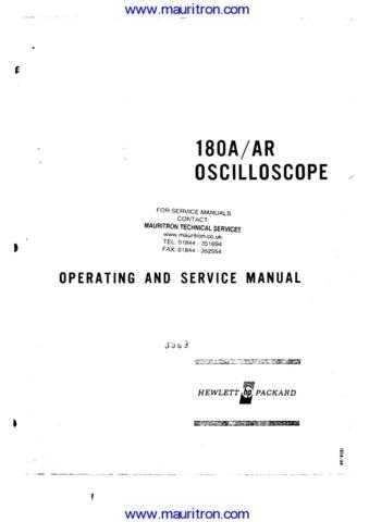 HP 180A Manual 1 by download Mauritron #313143
