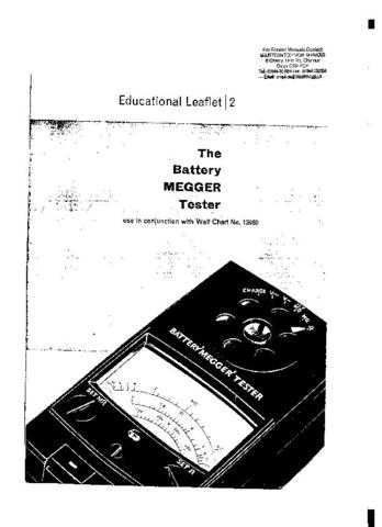 AVO Battery Tester Operating Guide by download Mauritron #308922