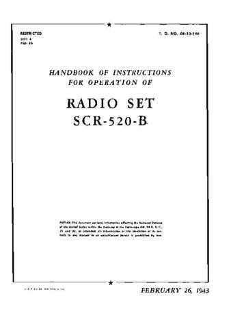 Military SCR520 User Handbook by download #335125